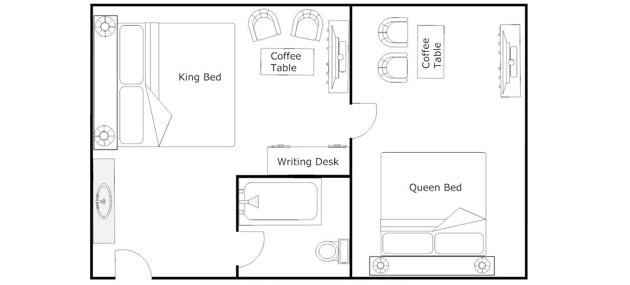 Floor Plan - Superior King Room